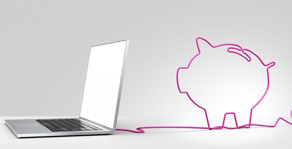 Hucha electrónica: Moneda a moneda, click a click