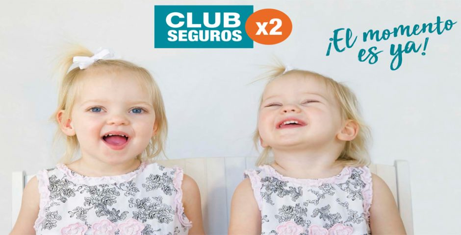 """Campaña """"x 2"""" del CLUB SEGUROS. Lo bueno, si doble, dos veces bueno"""